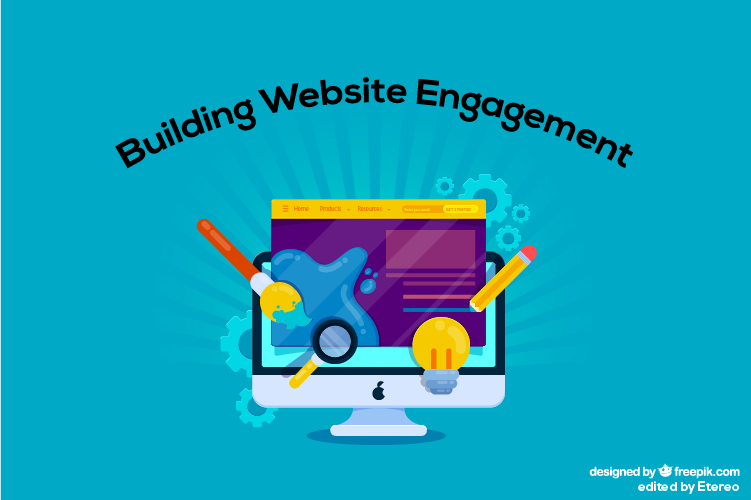 A banner that displays building website engagement