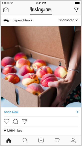 a screenshot of the peach truck's instagram