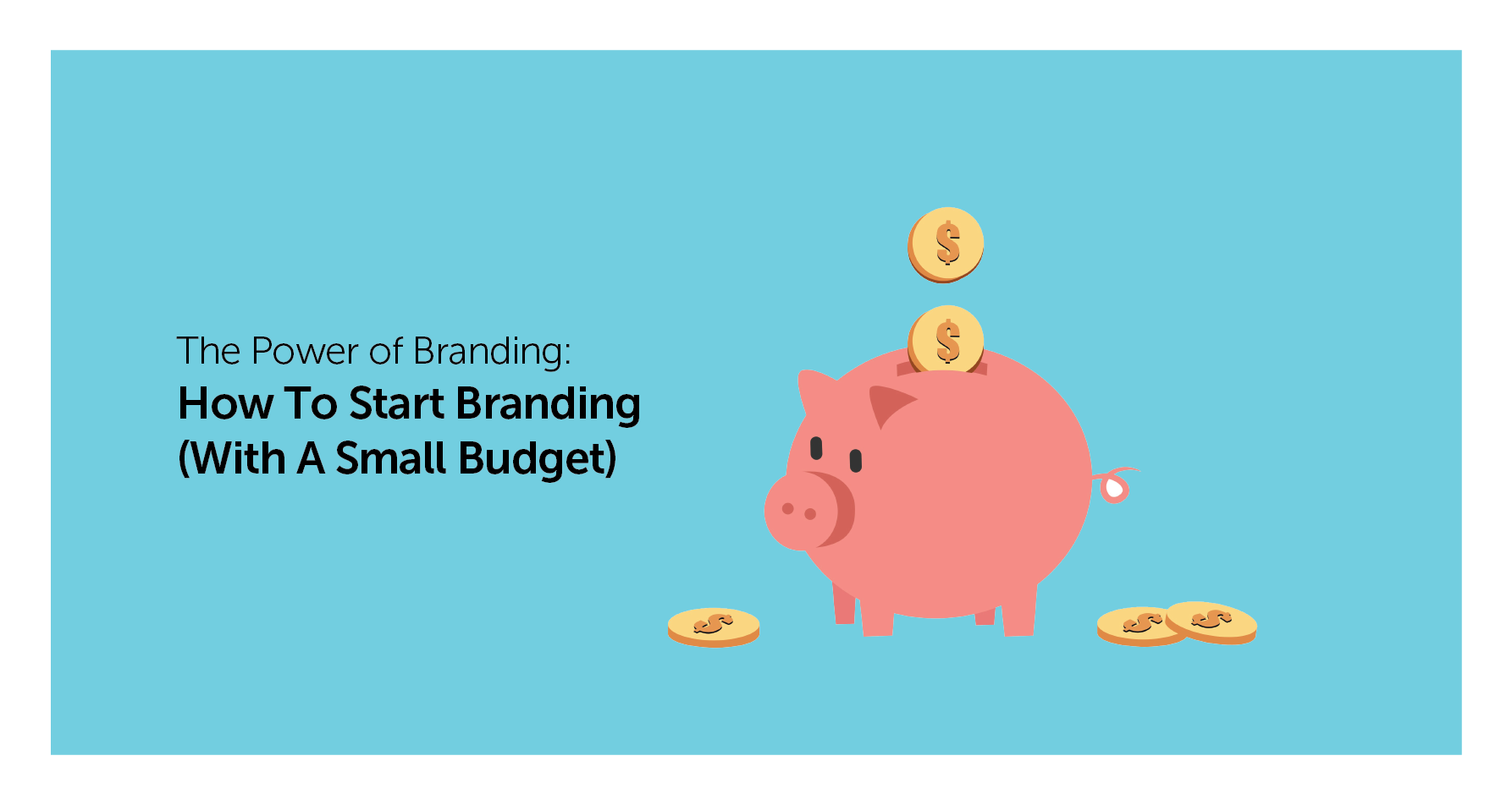 how to start branding on a small budget banner